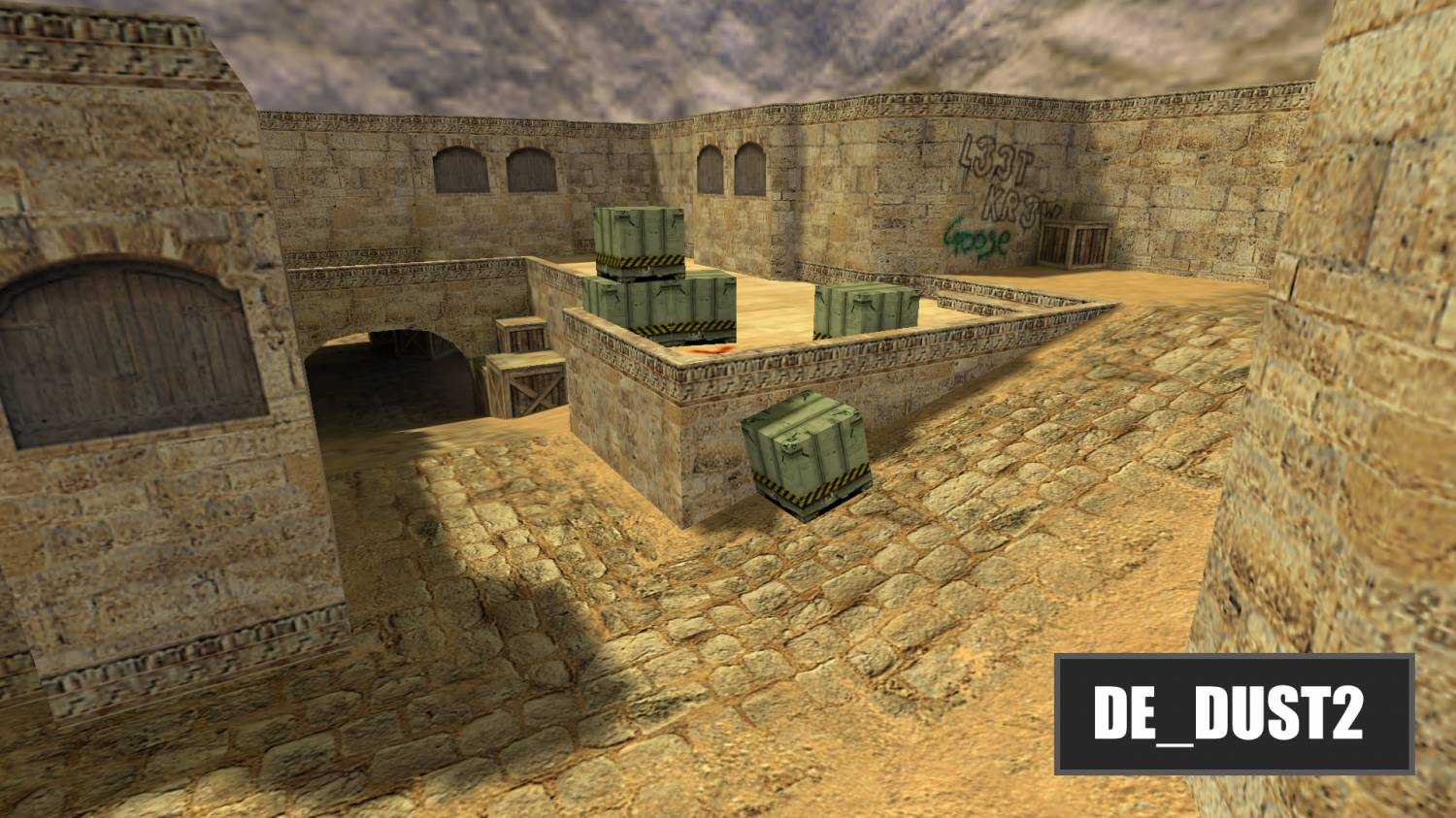 Оригинальная карта Dust2 для CS 1.6